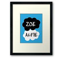 ZOE & ALFIE (Zoella & PointlessBlog) - TFIOS Design Framed Print