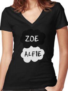 ZOE & ALFIE (Zoella & PointlessBlog) - TFIOS Design Women's Fitted V-Neck T-Shirt