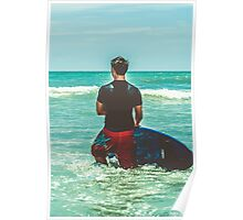 Waiting for the waves to come Poster
