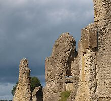 Sherborne Old Castle Side View by kalaryder