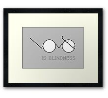Love is Blindness Framed Print
