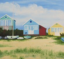 Hengistbury Beach Huts - l by Richard Paul