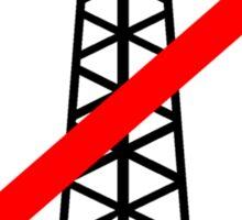 Anti-Fracking Symbol Sticker