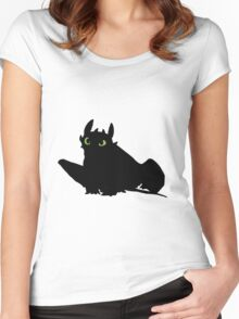 toothless (larger). Women's Fitted Scoop T-Shirt