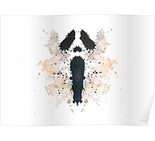 Scream Horror Movie Inkblot Poster