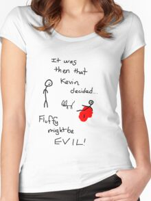 Fluffy Might Be EVIL! Women's Fitted Scoop T-Shirt