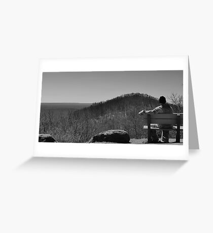 Mountains come out of the sky and they stand there Greeting Card