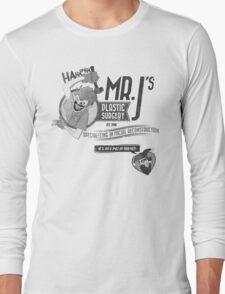 Mr. J's Plastic Surgery ( Black & White ) Long Sleeve T-Shirt