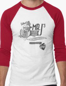 Mr. J's Plastic Surgery ( Black & White ) Men's Baseball ¾ T-Shirt