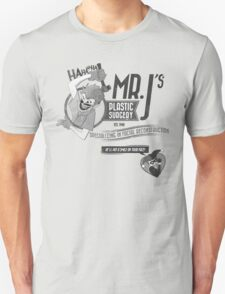 Mr. J's Plastic Surgery ( Black & White ) Unisex T-Shirt