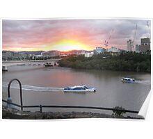 Brisbane River Sunset (2011) Poster