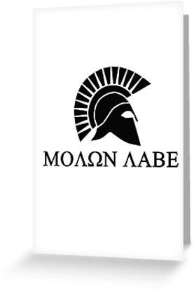 Molon lave - Spartan warrior by augustinet