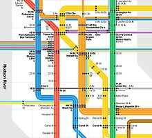 MTA Subway Map iPhone Case by bubblywums