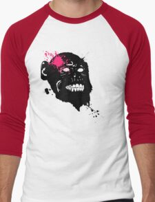 Smile to the world and it smiles back at you  Men's Baseball ¾ T-Shirt