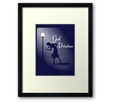 Girl Detective Framed Print