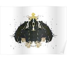 Alien Horror Movie Inkblot Poster
