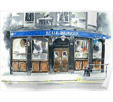 Blue Blazer Poster
