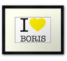 I ♥ BORIS Framed Print