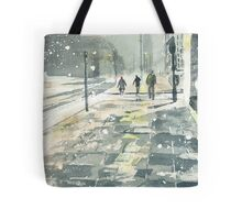 Winter Evening, Crossing Thistle Street Tote Bag