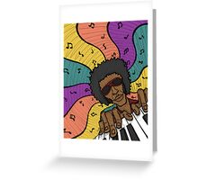 Piano Man Making Music Greeting Card