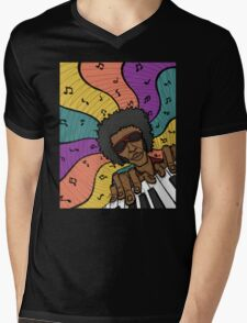 Piano Man Making Music Mens V-Neck T-Shirt
