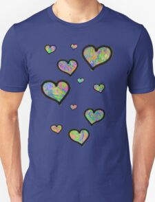 Colourful Hearts Unisex T-Shirt
