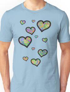 Colourful Hearts Unisex T-Shirt