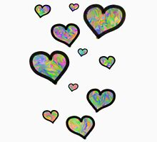 Colourful Hearts Womens Fitted T-Shirt
