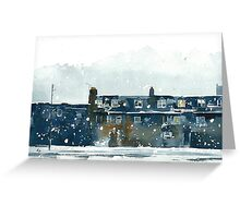 Edinburgh Snow 2 Greeting Card
