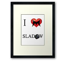 I Love Sladow Framed Print