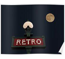 Retro Moon Poster