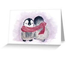Penguin Cuddle Greeting Card