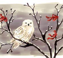 Snow Owl by Petra van Berkum