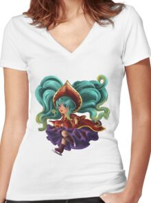 Silent Night Sona Women's Fitted V-Neck T-Shirt