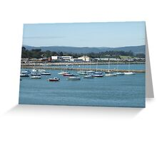 Boats in Harbour, Wicklow, Ireland Greeting Card