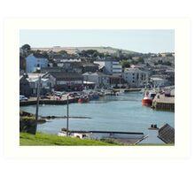 Wicklow Harbour, Ireland Art Print