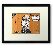 Thinning hair President Hayes webcomic portrait Framed Print