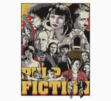 Pulp Fiction Drawing by KZADesign