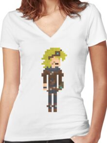 Ezreal, the Pixel Explorer Women's Fitted V-Neck T-Shirt