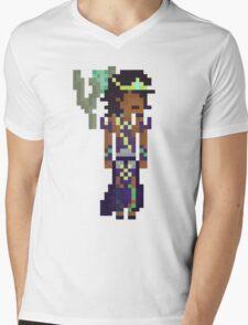 Karma, The Pixel Support Mens V-Neck T-Shirt