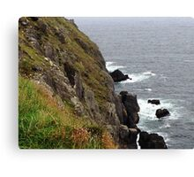 Rock and cliff, Dingle, Co. Kerry, Ireland Canvas Print