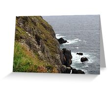 Rock and cliff, Dingle, Co. Kerry, Ireland Greeting Card