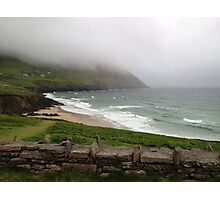 Mist over the mountains at Coomeenole Beach, Kerry, Ireland Photographic Print