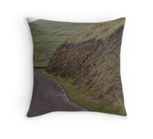 Stone walls dividing fields, Kerry, Ireland Throw Pillow