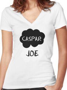 CASPAR & JOE (Caspar Lee & ThatcherJoe) - TFIOS Design Women's Fitted V-Neck T-Shirt