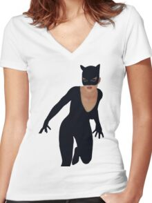 Ready For Action 2 Women's Fitted V-Neck T-Shirt
