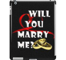 WILL YOU MARRY ME? iPad Case/Skin