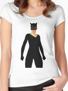Purrfect Stand 2 Women's Fitted Scoop T-Shirt