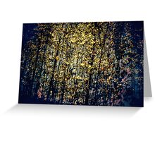 Dark Ambient Forest Greeting Card