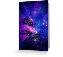 Space Rays Greeting Card